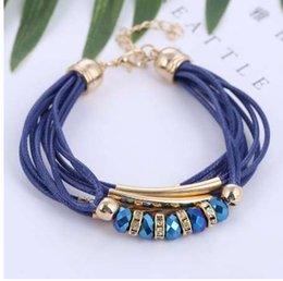 Wholesale Bracelet New Fashion Jewelry Leather Bracelet for Women Bangle Europe Beads Charms Gold Bracelet Christmas Gift