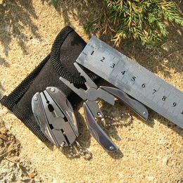 Nylon Pliers NZ - Portable Multifunction Mini Folding Plier Pocket Keychain Multi Funciton Tools Set Knife Screwdriver Camping Survival Tools with Nylon Bag