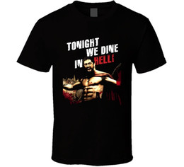 Custom Print T Shirt Cheap Australia - King Leonidas Action Hell T Shirt 2018 hot tees custom printed tshirt free shipping Cheap tees T shirt printing