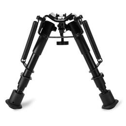 Vente en gros Réglable 6 à 9 pouces jambes jambes Sniper Chasse Riflescope Bipod Sling Swivel caméra trépied dslr appareil photo numérique support trépied pour smartpho