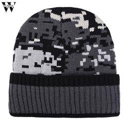 a42d2856730 New Hats 1PC Adult Women Men Hat Warm Ear Mosaic Pattern Crochet Winter  Plus Velvet Knit Caps Hats 2018 Nov2