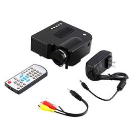 Multimedia Player Lcd Australia - UC28+ Mini Portable HD Projector Home Cinema Theater HDMI VGA USB SD AV  Interface Home Entertainment Device Multimedia Player Free Shipping