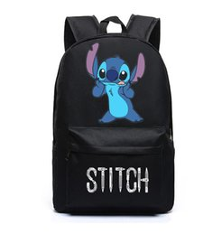 Backpack stitching online shopping - stitch cosplay School bag Travel Backpack Canvas Shoulder bag
