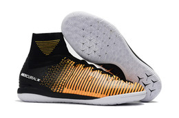 soccer boots online 2019 - Online Indoor TF Mens CR7 Mercurial Superfly V Soccer Shoes Soccer Cleats Football Boots Youth Cristiano Ronaldo 39-45 c
