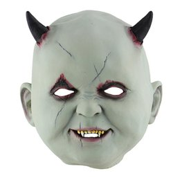 $enCountryForm.capitalKeyWord UK - Halloween Realistic Ghastful Horrible Scary Creepy Little Devil Mask Masquerade Supplies Cosplay Costumes Party Props
