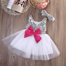 $enCountryForm.capitalKeyWord NZ - 2pcs suit !! sleeveless dress Newborn Baby Kids Girls Dress Bridesmaid Wedding Formal Party Pageant Dresses+hairband