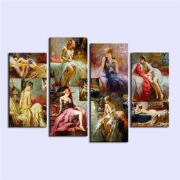 $enCountryForm.capitalKeyWord UK - Pino Daeni, Sexy Woman,4 Pieces Home Decor HD Print Modern Art Canvas (Unframed   Framed)