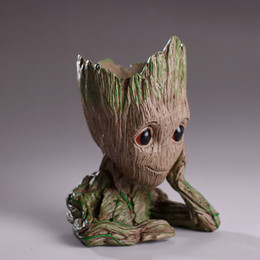 $enCountryForm.capitalKeyWord Australia - Groot Action Figures Fashion Guardians of The Galaxy Flowerpot Baby Groot Action Figures Cute Model Toy Pen Pot Best Study Gifts For Kids