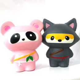 wholesale ninja toys UK - Simulation doll toy, PU material slow rebound with scented toys, Ninja series! Pink and gray mixed styles!