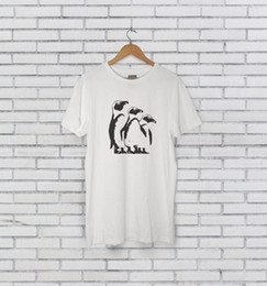 shirt penguin print NZ - John McVie - Three Penguins Tshirt Fleetwood Mac 2018 New Brand Men T-Shirt Tops Short Sleeve print