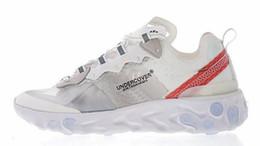 d3c1a3b2b62c Epic React Element 87 Undercover 2018 Mens Womens Shoes Designer Sneakers  Trainers Sports Light Black Sail Light Bone Hiking Jogging Zapotos