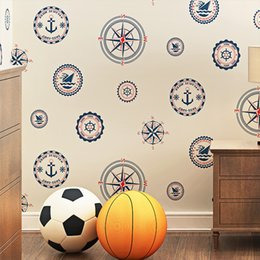 Wallpapers Walls Cartoons Australia - Eco-Friendly Children Wallpaper 3D Nautical Cartoon Boys And Girls Kids Bedroom Non Woven Wall Paper 3D Papel De Parede Infantil