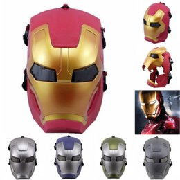 $enCountryForm.capitalKeyWord UK - Hanzi_masks 7 Color Cosplay Glowing superhero mask for kids adult Avengers Marvel Captain America Iron man Mask Halloween Party Mask