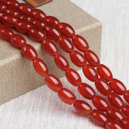 c21620f7eedc Granos de ágata roja natural forma de arroz de piedras preciosas Granos  sueltos para la pulsera DIY Joyería Hacer más tamaño para la opción