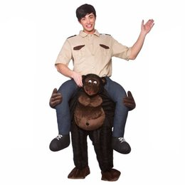 inflatable riding costume 2019 - Adult Cosplay Costume Man Riding A Monkey Dress Inflatable Suit Half Body Christmas Party Jumpsuit W650112