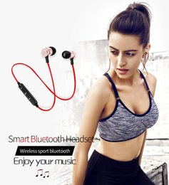 Discount s6 earphones packages - NEW S6 Smart bluetooth V4.1 headset wireless sports metal magnetic anti-lost portable earphone for smartphone with retai