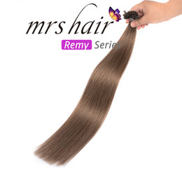 Brazilian Prebonded Hair Australia - MRS Brazilian Hair Human Virgin Hair Extensions Prebonded Nail U Tip Silky Straight 50G pack Straight Hair Weave