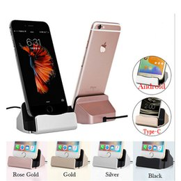 Wholesale Micro USB Charging Base Docking Station Desktop Charging Port Sync Cradle Dock Stand Holder Charger Base For Android Type C