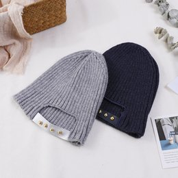 Baby Boy Skull Crochet Beanies NZ - Fashion Kids Boys Girls Winter Warm Knitted Hat Baby Beanie Caps Skullies Beanies Thick Crochet Hats Cap Solid 12 Color