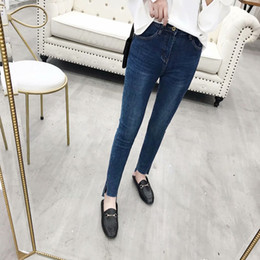 girls pencil jeans NZ - 2018 Autumn New Style Women's Skinny Pencil Pants Girls Washed High Waist Slim Skinny Jeans 26-31