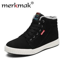 Warm Waterproof Winter Sneakers NZ - 2019 merkmak New winter Men's Boots Warm Wool Men Sneakers Outdoor WaterProof Male Shoes Ticken Plus Warm Footwear for Men 2018 Hot Sneakers