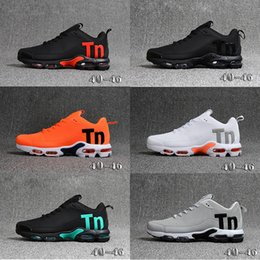 Mens Tn Trainers Canada - 2019 New Mercurial Tn Plus 2 Man Running shoes Chaussures KPU Black White Orange Mens Shoes TNs Sports Outdoors Trainers Sneakers Size 40-46