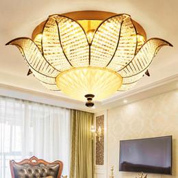 Sunflower Lights NZ - Modern Crystal Ceiling Lamps LED 3 Colors Dimmable Sunflower Ceiling Lights Fixture American Romantic Crystal Lamp Home Indoor Lighting