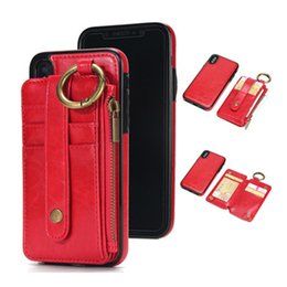 Magnetic card case online shopping - For iPhone X S8 Plus PU Leather Wallect Case Luxury Cell Phone Protector Magnetic Back Cover with Card bag