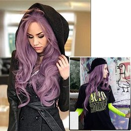 $enCountryForm.capitalKeyWord NZ - Everysilky Purple Synthetic Lace Front Wig Glueless Long Wave Purple High Temperature Heat Resistant Fiber Hair Wigs