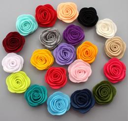 Hair rosettes online shopping - pc Cheapest Price quot Felt Flowers Multi Rose Flower Rosette Flower Girls Headwear Hair Accessories colors