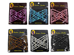 wire clip hair NZ - Girls Head Clip Comb Party Hair Styling Magic Double Slide Stretchy Clip Gift Variety hair Comb Hair Wire Headwear