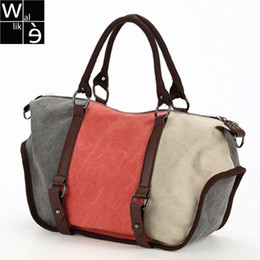 $enCountryForm.capitalKeyWord Canada - Wallike Luxury New Canvas Hobos Women Handbags Brand Designer Lady Patchwork Messenger Bag Casual Large Tote Vintage Bag Bolsas
