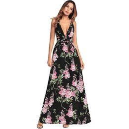 2018 Summer Suit-dress New Pattern Sexy V Lead Reveal Back Will Pendulum  Sandy Beach Longuette Chiffon Dress clothing ladies dresses woman 1cab06d68