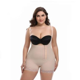 Wholesale SCECENT Shapewear Waist Slimming Shaper Corset Briefs Butt Lifter Modeling Strap Body Shapers Big Size Underwear Women Bodysuit