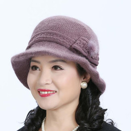 $enCountryForm.capitalKeyWord Australia - Fashion Winter Hat And Scarf Set For Women Rabbit Fur Hat&Scarf Girls Pompoms Beanies Knitted Scarves 2 Pieces Set Accessories