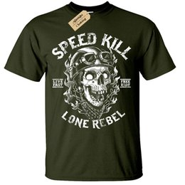 Speed S NZ - Speed Kill T-Shirt mens S-5XL Biker tee skull motorcycle rock bike rebel