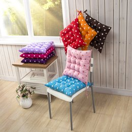 washable sofa Canada - Polka Dot 40*40cm Soft Thickening Tatami Student Study Office Chair Seat Pad Living Dining Room Sofa Car Back Cushion Washable