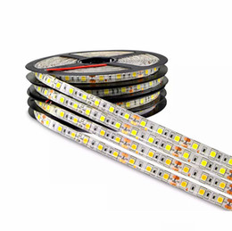 China DC 12V 5M 300LED IP65 IP20 not Waterproof 5050 SMD RGB LED Strip light 3 line in 1 high quality lamp Tape for home lighting cheap red blue led lights suppliers