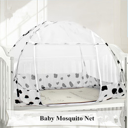 baby travel beds portable 2019 - 120*80cm Floding Baby Bed Mongolian Yurt Mosquito Net Portable Baby Crib Mosquito Netting Travel Zipper Door Beds cheap