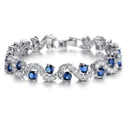 La braceLet online shopping - La MaxZa Zirconia Bracelets For Women Fashion Jewelry Womens Accessories Crystal Womens Bracelets Trendy Copper Bracelet
