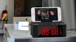Stand alarm clock online shopping - Explosion models X31 wireless smart alarm clock Bluetooth speaker card subwoofer multi function Bluetooth audio phone holder