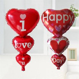 Wholesale Big I Love You Happy Day Balloons Party Decoration Heart Engagement Anniversary Weddings Valentine Balloons