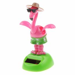 $enCountryForm.capitalKeyWord UK - 2018 Kids Plastic Solar Power Flapping Wing Swan Doll Car Ornament Home Decor Kids Toy Girl Birthday Gift for Children