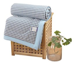 $enCountryForm.capitalKeyWord UK - Summer Grid Soft Cotton Washable Bedding Sofa Blanket Office Sleeping Quilt Covers Home Kids Baby Bed Sheet Bedclothes