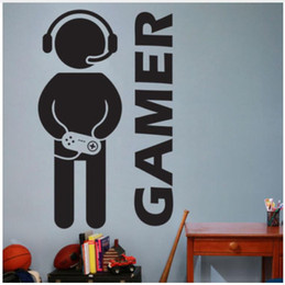$enCountryForm.capitalKeyWord NZ - Video Game Joystick Gaming Gamer Wall Decal Art Decor Vinyl Wall Sticker for Boys Room Home Decor 55*90 cm  33*56 cm