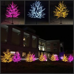 led indoor cherry tree lighting 2021 - LED Christmas Light Cherry Blossom Tree 1152pcs LED Bulbs 2m 6.5ft Height Indoor or Outdoor Use Free Shipping Drop Shipping Rainproof