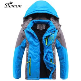 Jackets For Teens Canada - Winter 2018 Thicken Children Outerwear Warm Coat Sporty Kids Clothes Waterproof Windproof Teen Boys Girls Jackets For 3-14 Years