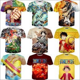 Wholesale tee shirt anime one piece for sale – custom 2018 Newest Anime Heroes Prints T Shirts Classic One Piece Luffy D T shirt Men Women Summer Casual Tee Shirts Harajuku Tops