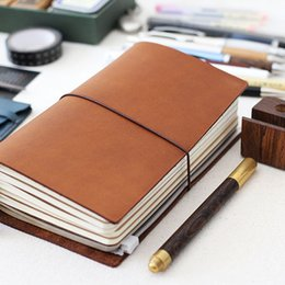 Design Genuine Leather NZ - K&KBook Newest 100% Genuine Cowhide Leather Design Traveler's Notebook Vintage Travel Journal Diary Handmade Sketchbook Refill