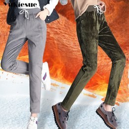 958a843a5d2 Winter Cashmere Harem Warm Pants Women s Velvet Thick pleuche Pants For  Women loose Winter Causal Women trousers Warm Plus size